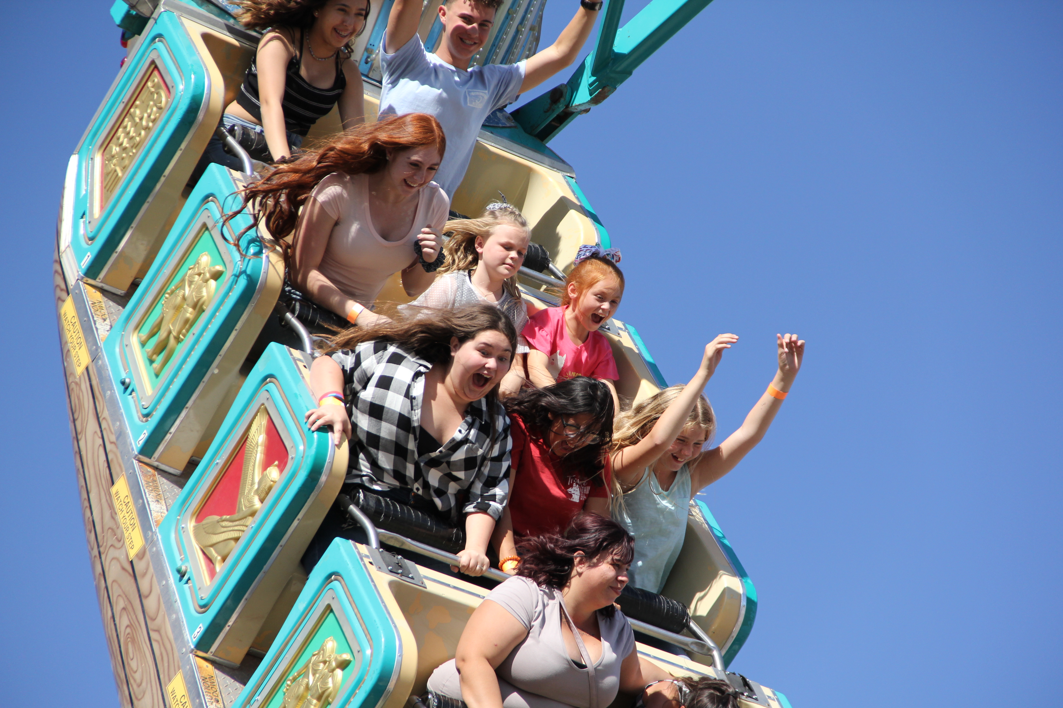 Young people on fair ride (6)