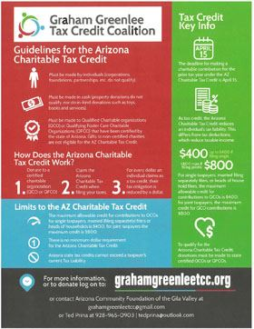 Graham Greenlee Tax Credit Coalition Poster